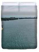 Downbound At Belle Isle Duvet Cover