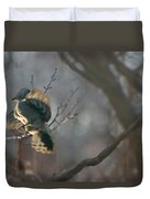 Downey Woodpecker Duvet Cover