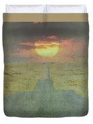 Downhill Sunset Duvet Cover