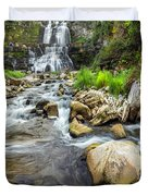 Downstream From Chittenango Falls Duvet Cover