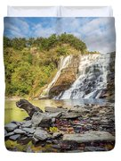 Downstream From Ithaca Falls Duvet Cover