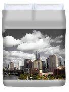 Downtown And Lake Duvet Cover