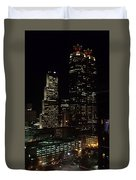 Downtown Atlanta Lights Duvet Cover