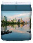 Downtown Austin Texas Skyline 2 Duvet Cover