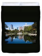 Downtown Charlotte North Carolina From Marshall Park Duvet Cover