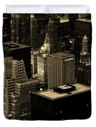 Downtown Chicago At Sunset Duvet Cover