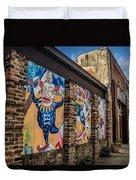 Downtown Clowns Duvet Cover