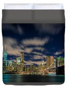 Downtown From Brooklyn Duvet Cover
