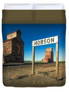 Downtown Hobson, Montana Duvet Cover