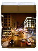Downtown In The Itty-bitty City Duvet Cover