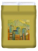 Downtown Manhattan Duvet Cover