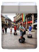 Downtown Milan Duvet Cover by Milan Mirkovic