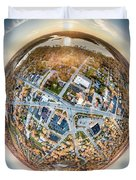 Downtown Mukwonago Little Planet Duvet Cover