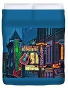 Downtown Nashville At Dusk Duvet Cover