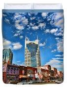 Downtown Nashville Blue Sky Duvet Cover