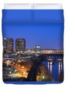 Downtown Nightlife Duvet Cover