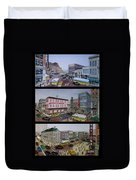 Downtown Portsmouth 1948 Duvet Cover