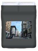Downtown San Francisco Street Level Duvet Cover
