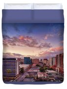 Downtown San Jose From City Heights Duvet Cover