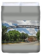 Downtown Silver City Duvet Cover