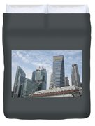 Downtown Singapore Duvet Cover