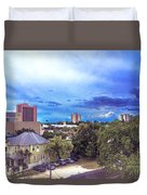 Downtown Skies Duvet Cover