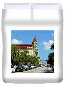 Downtown St Augustine Duvet Cover