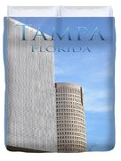 Downtown Tampa Duvet Cover