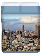 Downtown Tel-aviv Skyline Duvet Cover