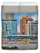 Downtown Toledo Riverfront Duvet Cover