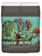 Downtown Walkers Duvet Cover