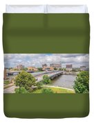 Downtown Waterloo Iowa  Duvet Cover