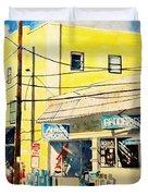 Downtown Wrightsville Beach Duvet Cover
