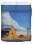 Downtown Wyoming Duvet Cover