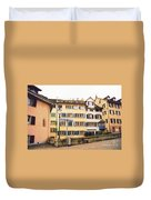 Downtown Zurich Switzerland Duvet Cover