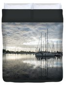 Downy Soft Clouds At The Marina Duvet Cover