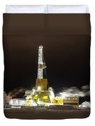 Doyon Drilling Rig And Camp Duvet Cover