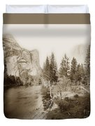 Domes And Royal Arches From Merced River Yosemite Valley Calif. Circa 1890 Duvet Cover