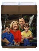 Dr. Devon Ballard And Family Duvet Cover