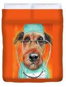 Dr. Dog Duvet Cover by Michelle Hayden-Marsan