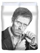 Dr. House  Hugh Laurie Duvet Cover