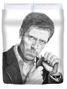 Dr. House  Hugh Laurie Duvet Cover