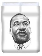 Dr. Martin Luther King Duvet Cover by Murphy Elliott