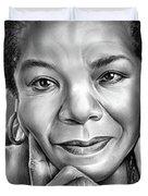 Dr Maya Angelou Duvet Cover
