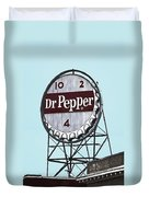 Dr Pepper Landmark Sign Roanoke Virginia Duvet Cover