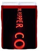 Dr. Pepper Neon Duvet Cover
