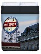 Dr Pepper Sign Duvet Cover