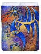 Dragissous V1 - Blue Dragon Duvet Cover