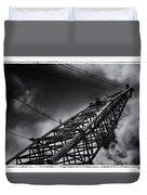 Dragline 553bw Duvet Cover