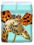 Dragon And Giraffe Duvet Cover
